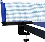 Yaesport Collapsible Table Tennis Ball Net, Professional Pingpong Net Clip Grip with Tension and Height Adjust