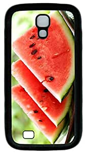 samsung galaxy s4 case,custom samsung galaxy s4 i9500 case,TPU Material,Drop Protection,Shock Absorbent,Customize your own cell phone case pattern,black case,Three piece of watermelon