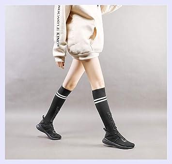 XINGMU Alta Tubo Auxiliar Calcetines Botas Casual Aire College Transpirable Zapatos Deportivos: Amazon.es: Deportes y aire libre