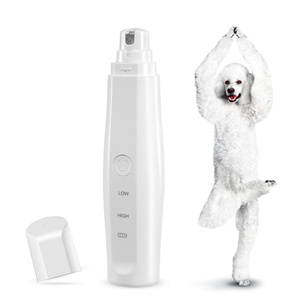 We'R Home Dog Nail Grinder,USB Rechargeable Painless Dog Nail Clippers Pet Grooming Tool Electric Pets Nail Grinder with 2 Speeds
