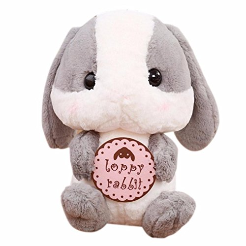 Inverlee 9 Inches Rabbit Plush Stuffed Animal Limited Editionl, Xmas Gift for Children (B, One Size)