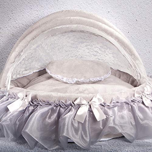 (JSSFQK Pet Bed Removable and Washable Pet Nest Small Dog Kennel Cat Princess Nest, Available in Four Seasons, Four Colors Available (Color : D))