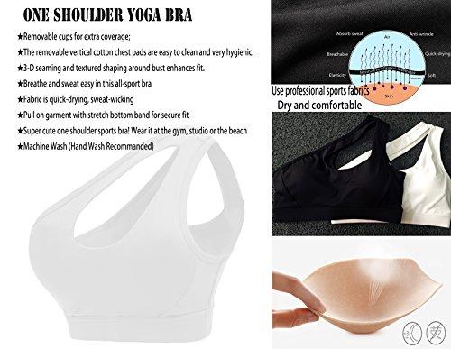 One shoulder bra