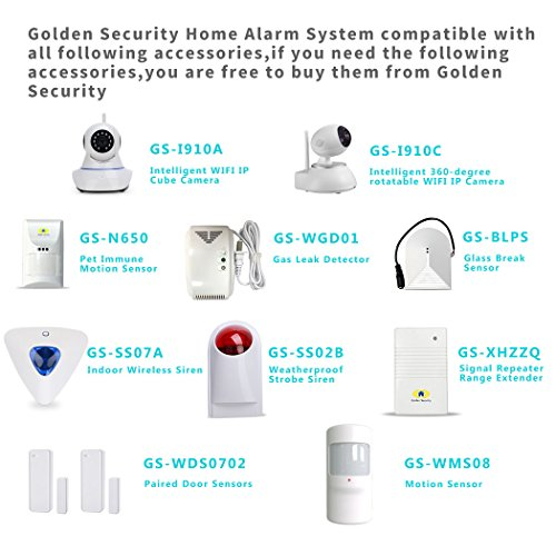 Golden Security Home Alarm System 2G / WIFI with Alexa , Auto Dial, APP remote control, Compatible with other Golden Security Accessories S1-Plus by Golden Security (Image #5)