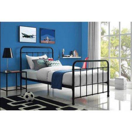 - Modern Style Kelsey Metal Bed Full, Perfect for Kids Bedroom, Crisp, Elegant Look, Durable Metal Framing, Side Rails and Support Legs, Sturdy Metal Slats, Two Base Heights + Expert Guide (Black)