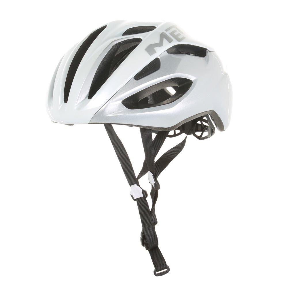 メット リヴァーレ HES ホワイト×シルバー ヘルメット L(59/62cm)   B015DJGQ0U