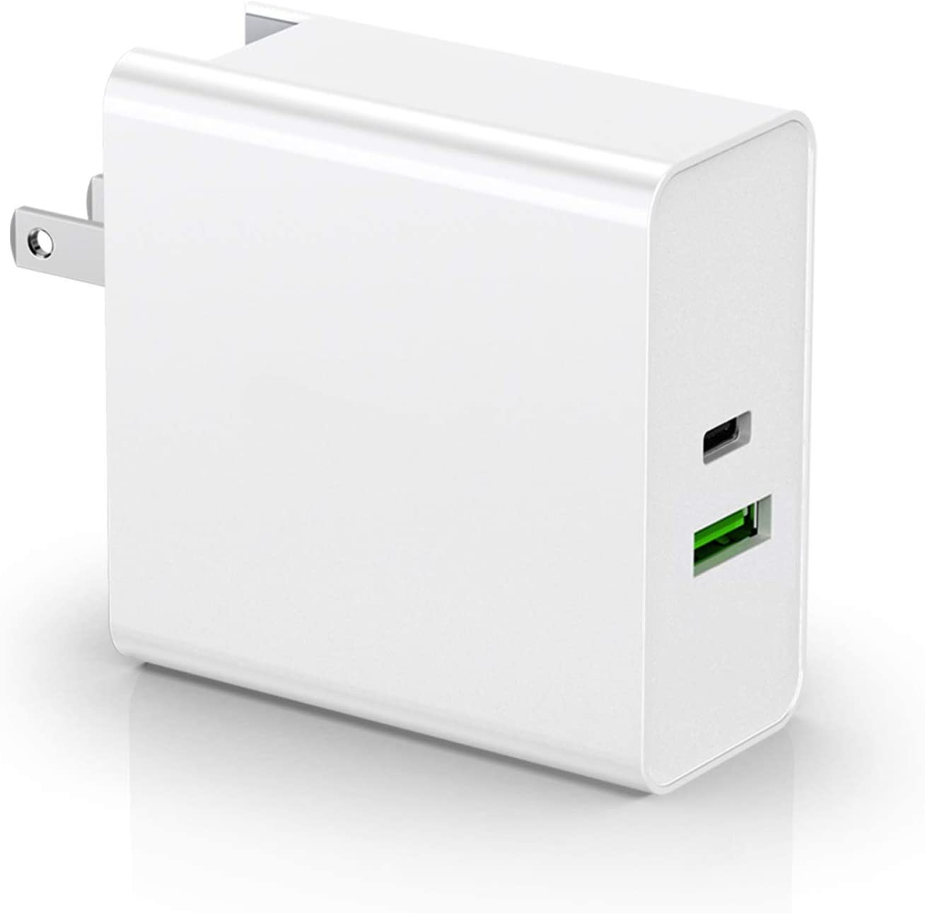 BROQLI USB Type C Portable Wall Charger Adapter with EU Plug, 87W Power Delivery 3.0 for MacBook Pro 16/Air, iPad Pro 2018/Mini, iPhone 11 Pro/XS/Max/XR/X/8 Plus, Galaxy Note10/S10/S9, Pixel (White)