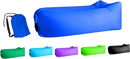 Amazon.com: Jsutyer Tumbona inflable portátil Air Couch ...