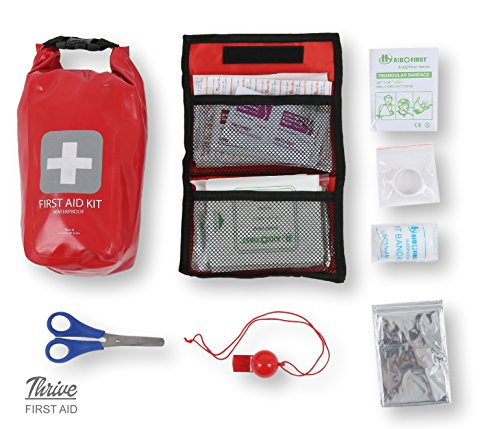Waterproof First Aid Kit - 126 Pieces - Durable Vinyl