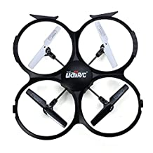 UDI RC U818A-HD 2.4GHz 4 CH 6 AXIS Headless RC Quadcopter w/ HD Camera, Extra Battery and Return Home Function