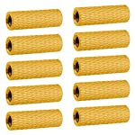 10PCS HobbyPark Aluminum M3x15mm Standoff Spacer Female-Female Round Column for RC Quadcopter FPV Drone Parts Gold Yellow