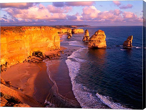 (Morning at 12 Apostles, Great Ocean Road, Port Campbell National Park, Victoria, Australia by Howie Garber/Danita Delimont Canvas Art Wall Picture, Gallery Wrap, 36 x 28 inches)