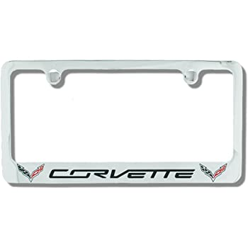 durable service Chevrolet Corvette C3 Chrome Plated Metal License ...