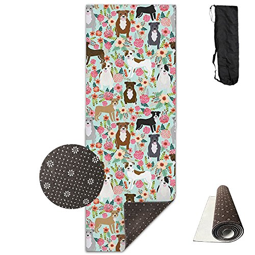 CxiunjUS159 Pitbull Terriers Cute Dogs Ultra-Durable, Non-Slip, Fitness Mat for Home Gym Floors - Suitable for Foam Yoga Mat for Sports, Yoga and ()