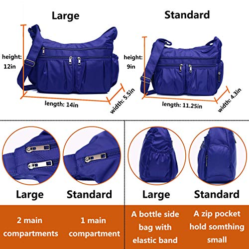 Crossbody Bags for Women, Multi Pocket Shoulder Bag Waterproof Nylon Travel Purses and Handbags by VOLGANIK ROCK (Image #3)