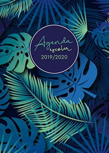Agenda escolar 2019-2020: Planner Semanal - Semana Sista - Calendario - Horario - Prints Palm (Spanish Edition) (Agenda Profesional)