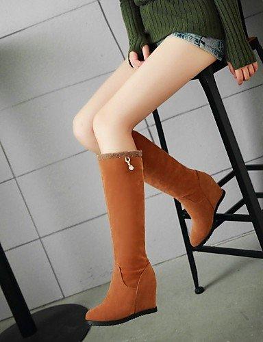 Zapatos Yellow Plataforma us8 Trabajo Oficina Amarillo Exterior Botas Uk6 negro Xzz Eu39 La De Beige Y Moda Semicuero Cn39 Uk A us8 Mujer Comfort Casual dTtwwxqC