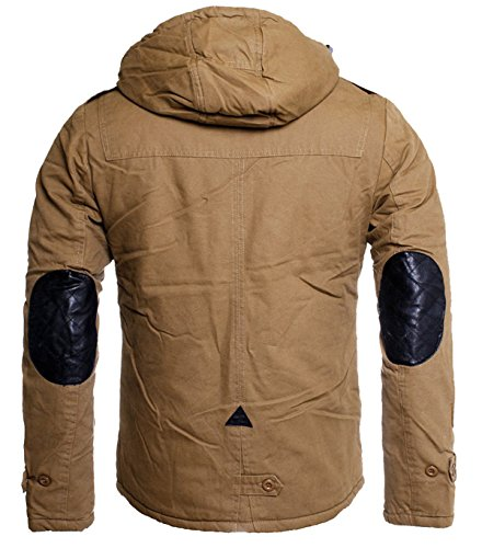 Parka Uomo Basic Maniche Lunghe Young Marrone Rich Giacca amp; qHRxBHW60t
