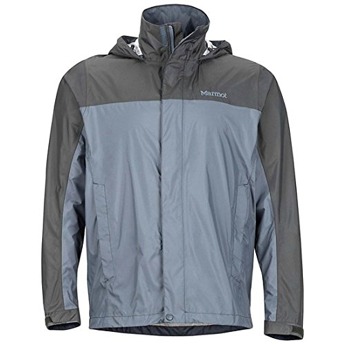Marmot PreCip Jacket - Men's (Steel Onyx/Slate Grey, X-Large) - Grey Steel Rain Jacket