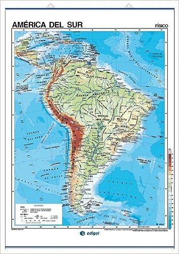 Edigol Wall Maps 100 X 140 Cm America Del Sur Fisico Politico
