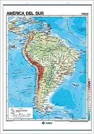 América del Sur, físico / político: Mapas Murales