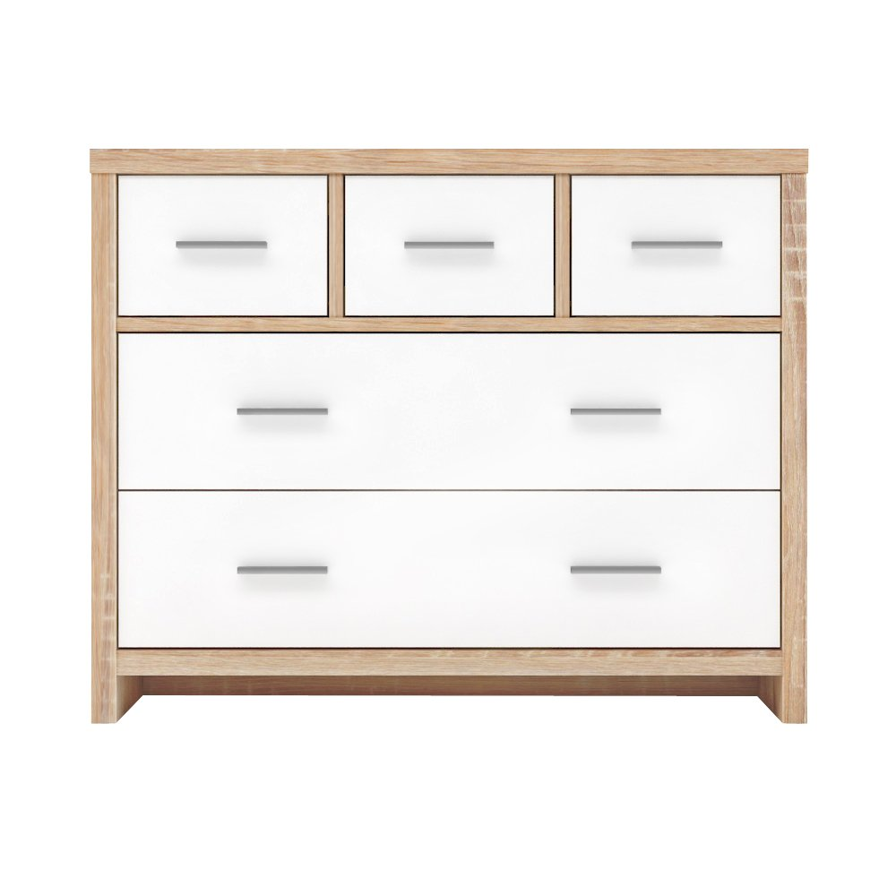 Furniture 247 5 Drawer Chest - Black Oak SourcebyNet 10239280 Black Oak