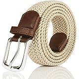 moonsix Elastic Web Belts for Men,Solid Color...