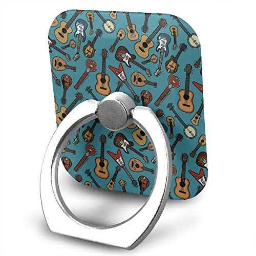 Phone Ring Finger Holder, Square Musical Instrument Printed Universal Smartphone Holder Stand, Cell Phone Ring Finger Holder Grip Almost All Phones/Pad