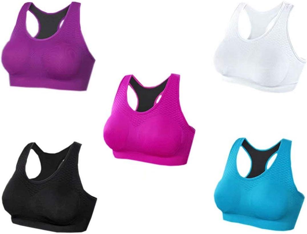 Fitness Bra Racerback Sports Bra Seamless High Impact Gym Workout Activewear Vest