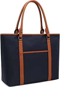 Laptop Tote Bag Fits 15.6-17 Inch Laptop Lightweight Water Resistant Nylon Tote