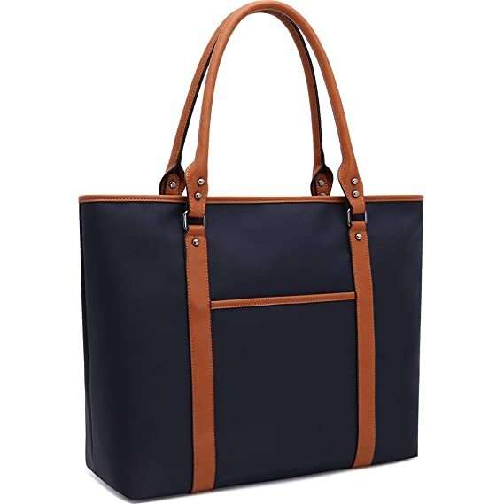 Laptop Bag for Women Lightweight Nylon Work Tote Bags Business School Computer Shoulder Bag Large Capacity Briefcase Accommodate 15-15.6 Inch ...