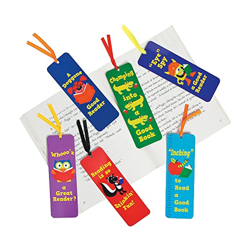Fun Express - I Love Reading Laminated Bookmarks - Stationery - Bookmarks - Bookmarks - 48 Pieces