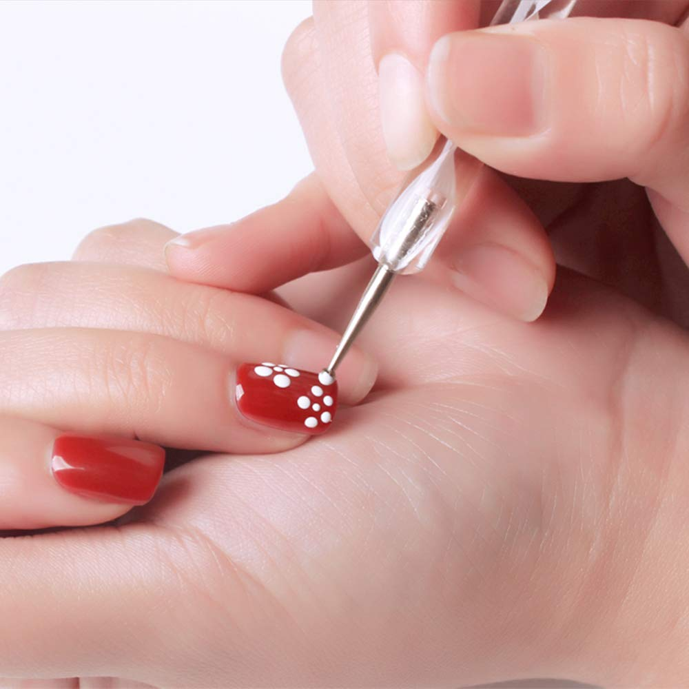Amazon.com : 5 pc 2 Way Dotting Pen Tool Nail Art Tip Dot Paint Manicure kit : Nail Art Equipment : Beauty