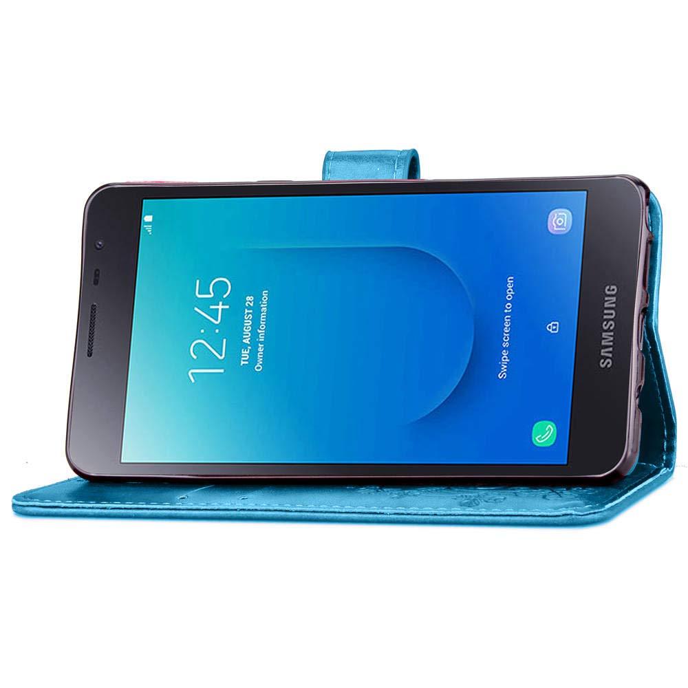 Lomogo Cover Galaxy J2 Core Portafoglio LOSDA040273 Nero Custodia a Libro Pelle Porta Carte Chiusura Magnetica Antiurto Flip Wallet Case per Samsung Galaxy J2 Core//J260F