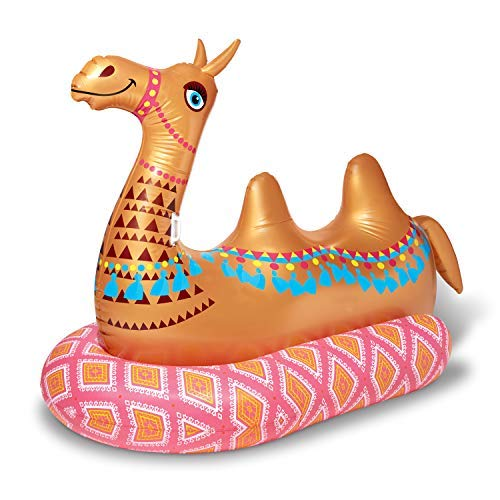 Play Day Mega Inflatable Ride-On Camel Pool Float / Beach Float / River Float / Lounger
