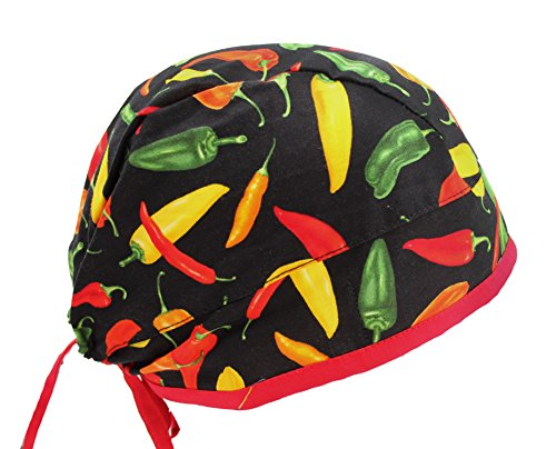 Red Hot Chili Peppers Scrub Cap Hat with Adjustable tie