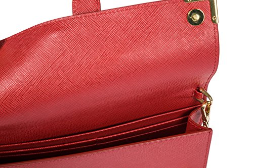 iPhone red shoulder body cross leather porta messenger women's bag Prada Rfq6pz
