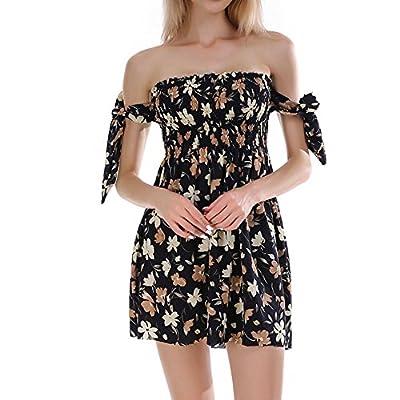 kaifongfu Dress for Women Dresses, Womens Camisole Long Sleeve Square Neck Mini Dress Button Pocket Fashion Dress
