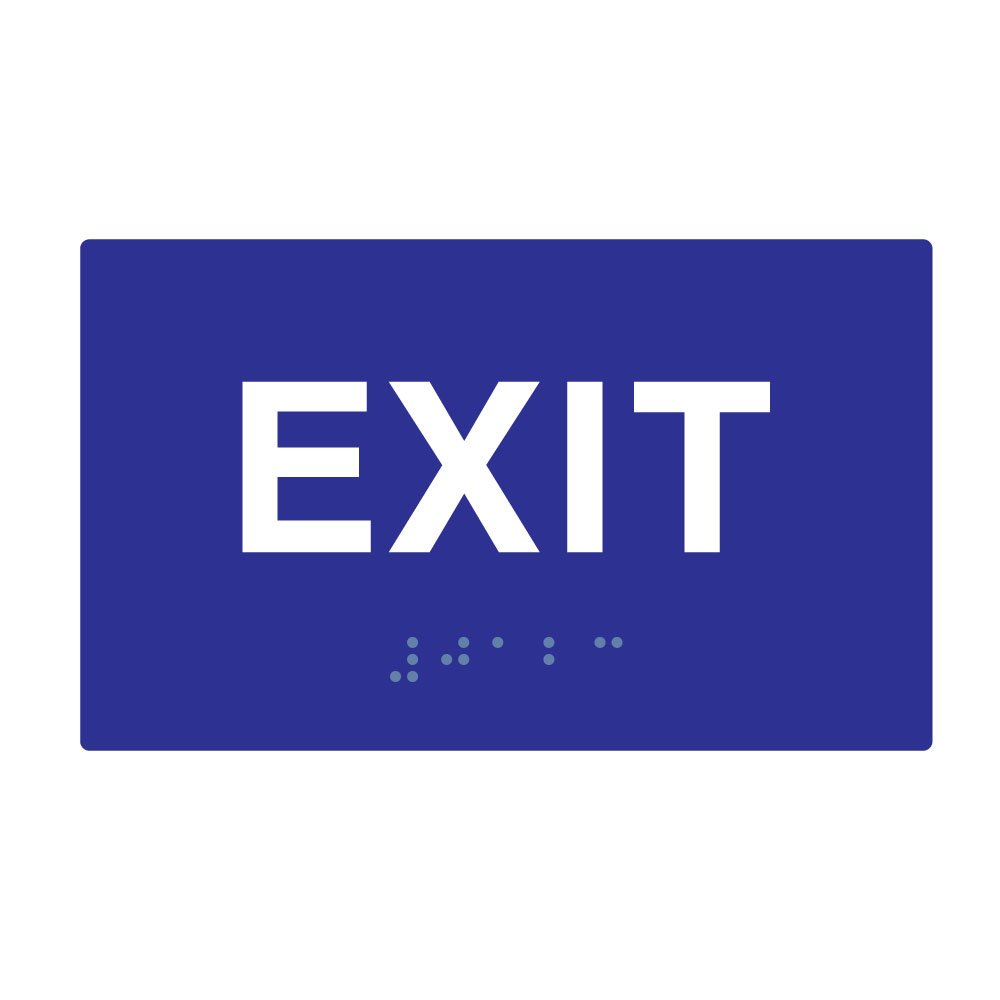Ada compliant exit signs with tactile text and grade 2 braille 5x3 ada compliant exit signs with tactile text and grade 2 braille 5x3 commercial lighted exit signs amazon buycottarizona Images