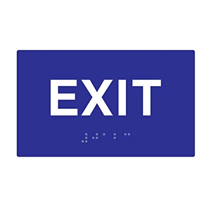 Ada Compliant Exit Signs With Tactile Text And Grade 2 Braille 5x3