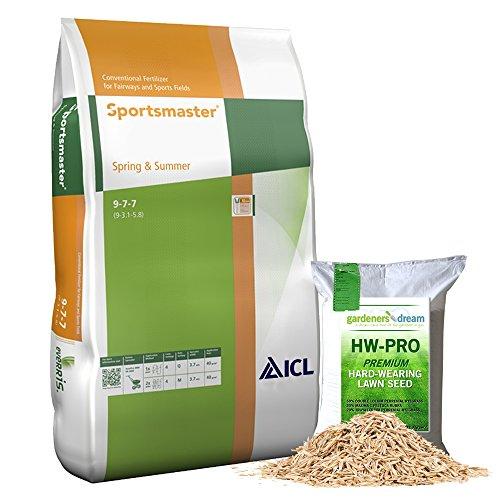 25kg SPRING AND SUMMER PROFESSIONAL LAWN TREATMENT FEED GRASS FERTILISER