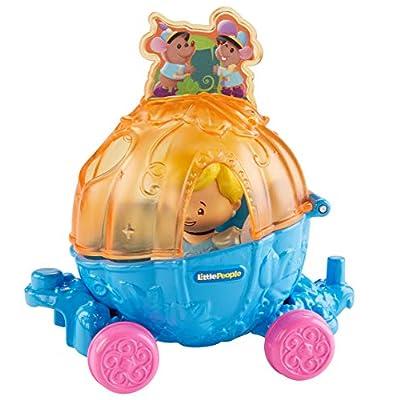 Fisher-Price Little People Disney Princess, Parade Cinderella & Pals Float: Toys & Games