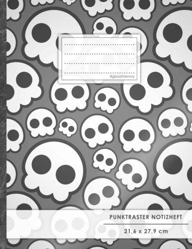 "Punktraster Notizbuch • A4-Format, 100+ Seiten, Soft Cover, Register, ""Jugendlich"" • Original #GoodMemos Dot Grid Notebook • Perfekt als Skizzenbuch, Tagebuch, Handlettering Übungsbuch"