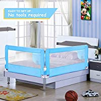 ODOLAND Bed Rail Swing Down Safety Bed Rails