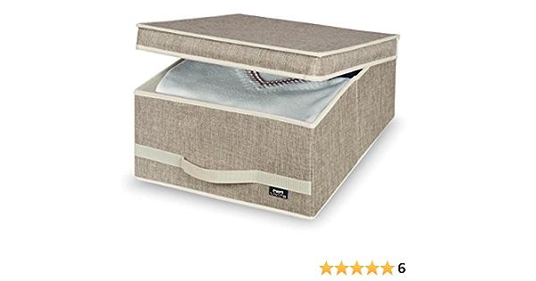 Domopak – Caja de Almacenamiento Maison 35 x 45 x 18 cm en marrón: Amazon.es: Hogar