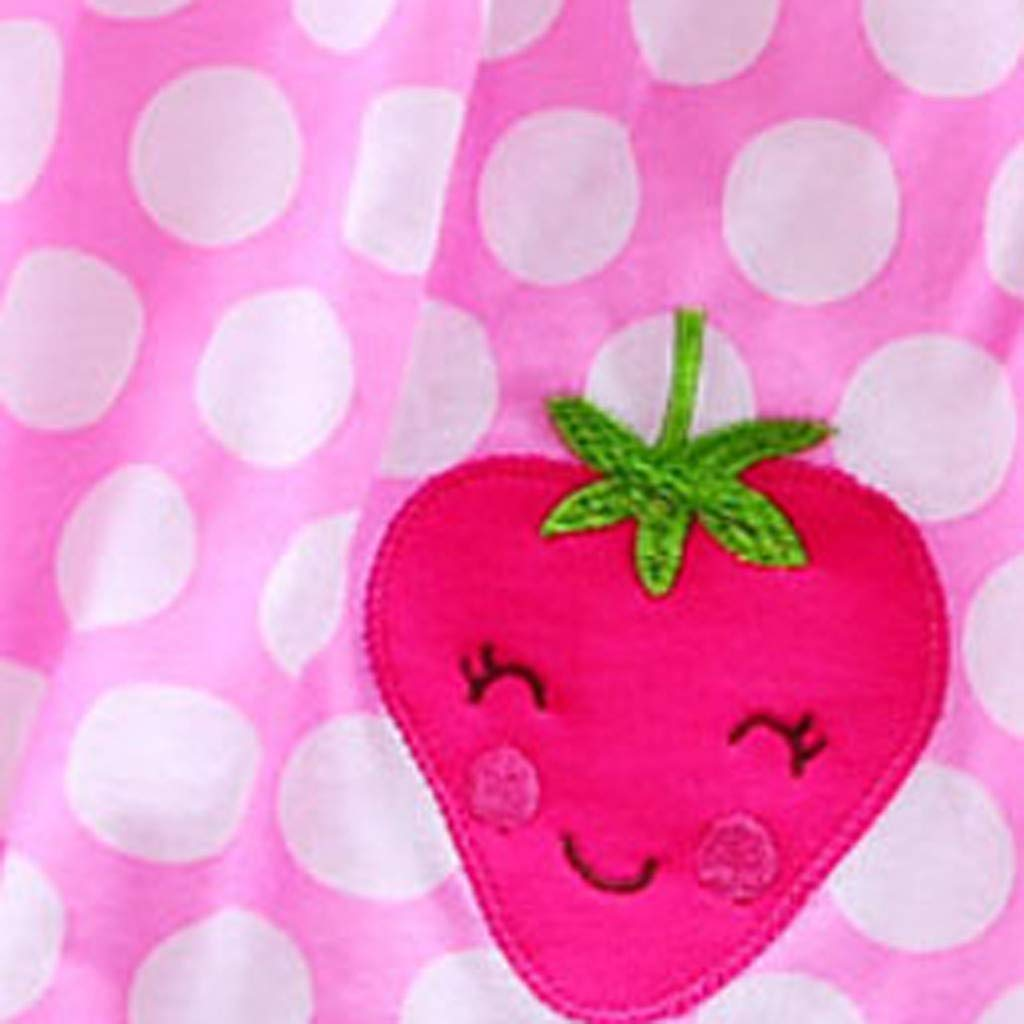 0-24Monate Kleinkind Cute Baby Baumwolle Blumenkleid Sommerkleidung Kinder Dot Striped Tees Kleid Niedlich Smiley Drucken T-Shirt Schlafanzug Bodys /& Einteiler MOIKA Baby M/ädchen Kleider,