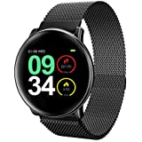 Smart Watch,UMIDIGI Uwatch2 Smartwatch Compatible with iOS, Android, Waterproof IP67, Fitness Activity Tracker Heart Rate, Calorie Counter Pedometer Watch for Men, Women and Kids (Black)