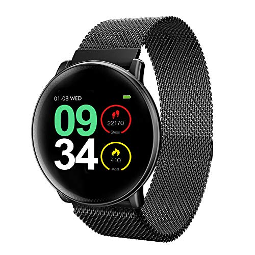 Smart Watch, UMIDIGI Uwatch2 Smartwatch Compatible with iOS,Android, Waterproof IP67, Fitness Activity Tracker Heart Rate, Calorie Counter Pedometer Watch for Men Kids(Black)