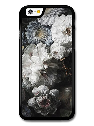 Rustic Retro Vintage Floral Painting Pattern in Black and White case for iPhone 6 6S
