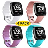 BRIGTLAIFF Sport Bands Compatible for Fitbit Versa, Silicone Accessories Strap Fitbit Versa Bands Water Resistant Fitness Replacement Wristbands Women Man Large Small, Multi-Colors, 9PACK/1PACK